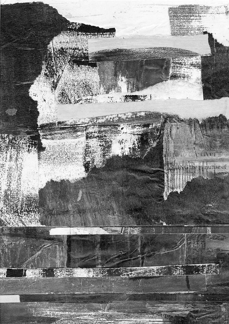 Drawing Journal Tonal Collage landscape  by Margaret Hage