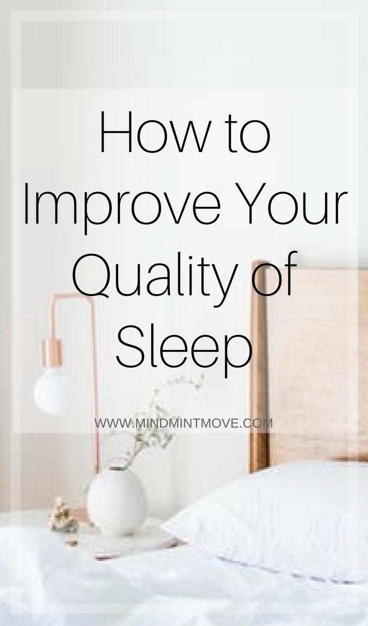 improve your quality of sleep