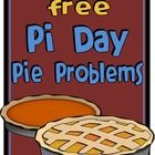 This FREE download contains fun pie-themed Pi Day word problems that require students to find circumference and area!