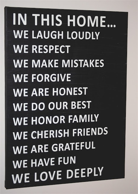Happy-Go-Lucky: Family Rules Canvas {with a Printable}