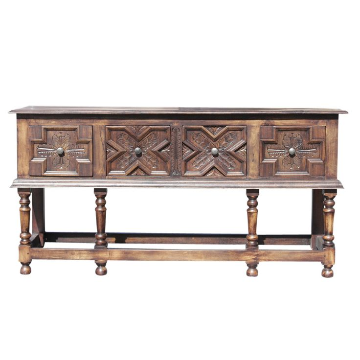 Refectory Tudor Style Console