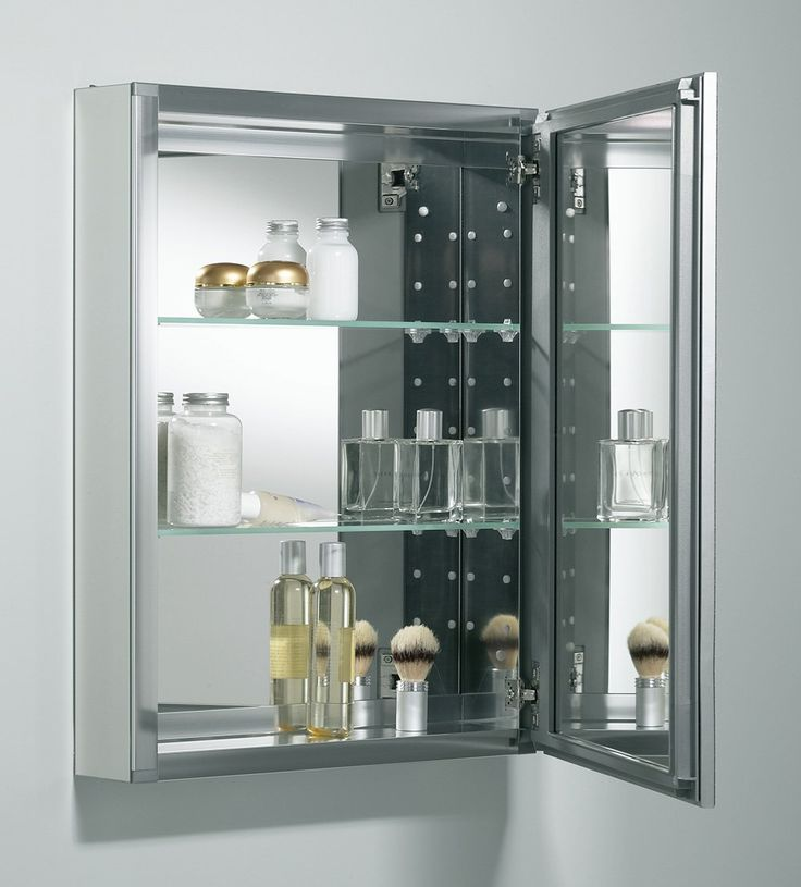 Kohler K Cb Clw2026ss Single Door 20 W X 26 H X 5 1 4 D Aluminum Cabinet With