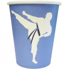 Karate Party Supplies, Karate Party Cups, Karate Tableware