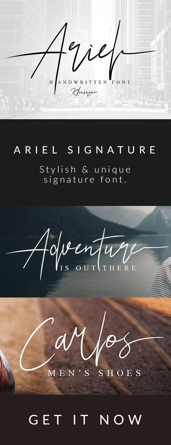 Tipografía tipo firma para utilizar con el nombre…