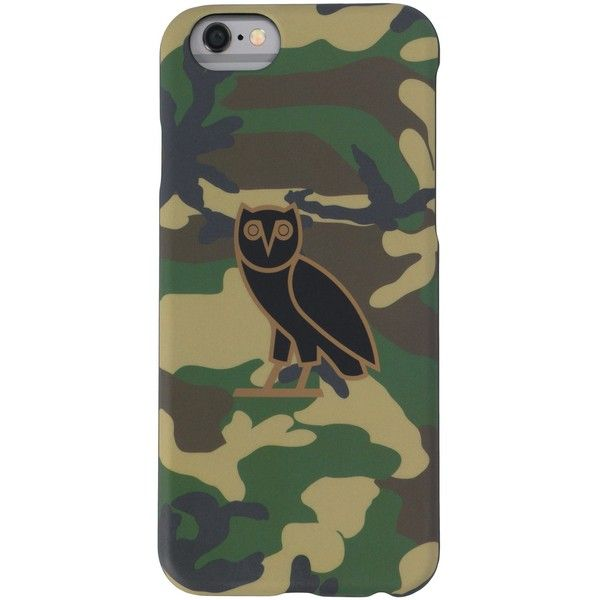 OWL LOGO IPHONE CASE CAMO ($38) ❤ liked on Polyvore featuring accessories, tech accessories, iphone cover case, iphone sleeve case and logo iphone case