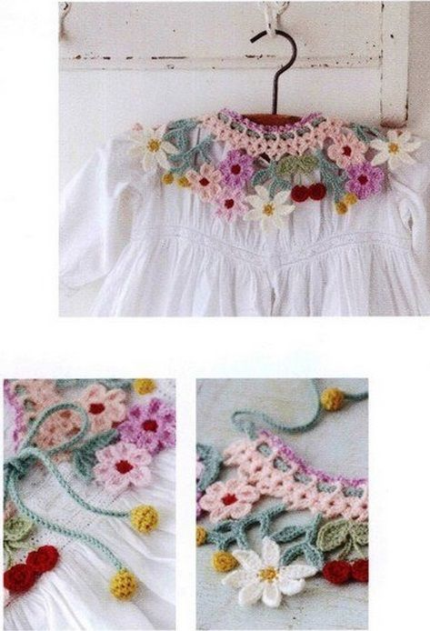 Multicolored crochet collar