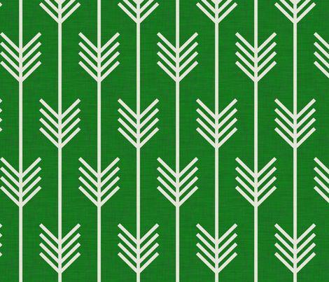 arrows_emerald fabric by holli_zollinger on Spoonflower - custom fabric