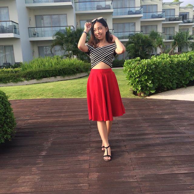 Mademoiselle en Rouge #ootd #bali #balibible #SheratonKuta