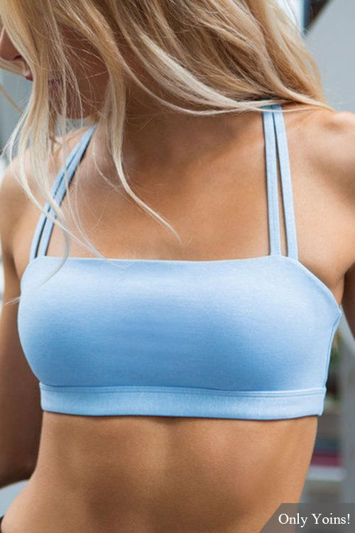 Light Blue Criss-cross Sports Bra