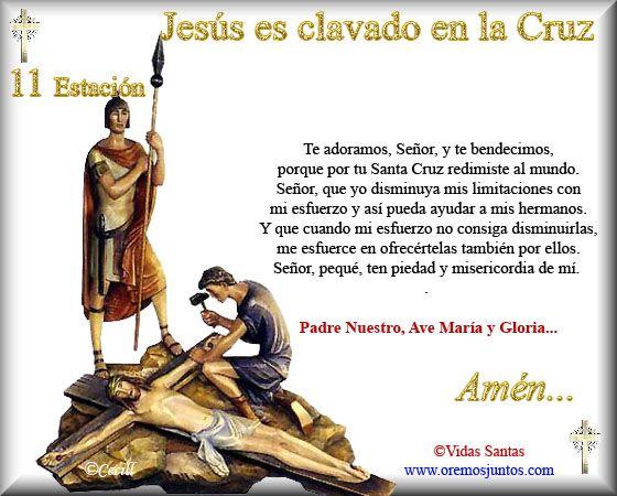 Imágenes de Cecill: Estaciones del Via Crucis † 11- Jesús es clavado en la Cruz
