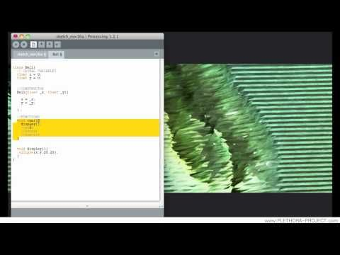 Processing Tutorial 07 - Classes - YouTube