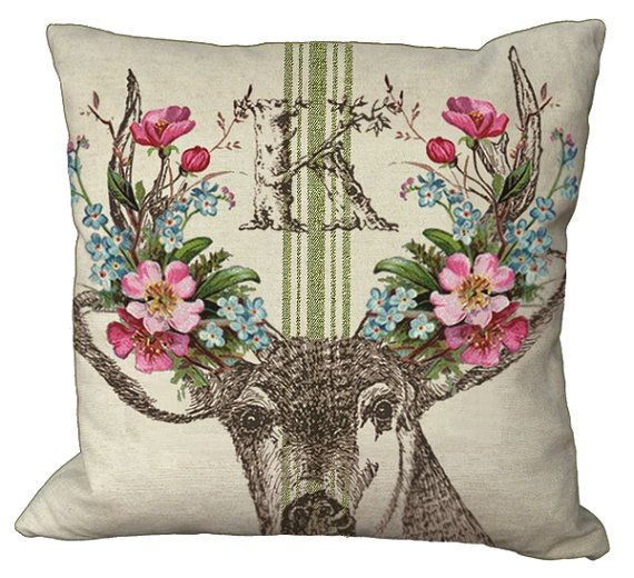 Shabby Chic Deer Pillow : 9 best images about Deer camp/ranch on Pinterest Restoration hardware baby, Classy and Shabby