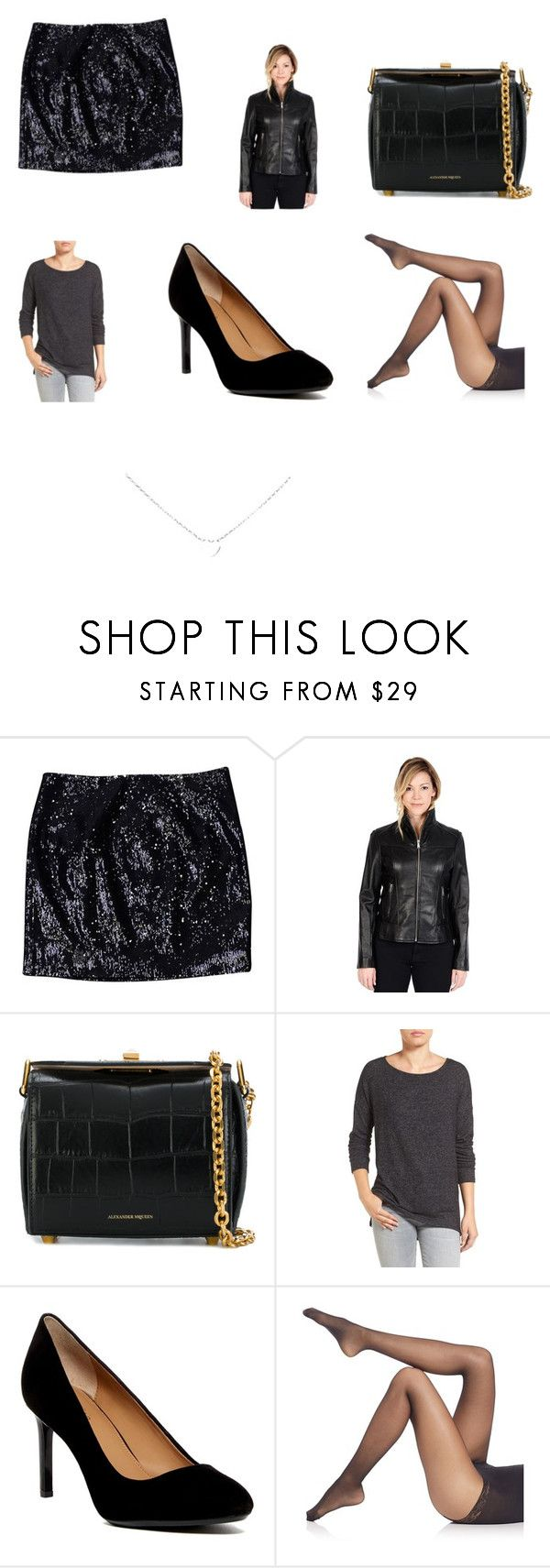 """""""Chelsea Hamill's look at the 2009 Spike Video Game Awards"""" by terrence-michael-clay on Polyvore featuring Michael Kors, Excelled, Alexander McQueen, Gibson, Calvin Klein, Falke, imgrc and tbm"""