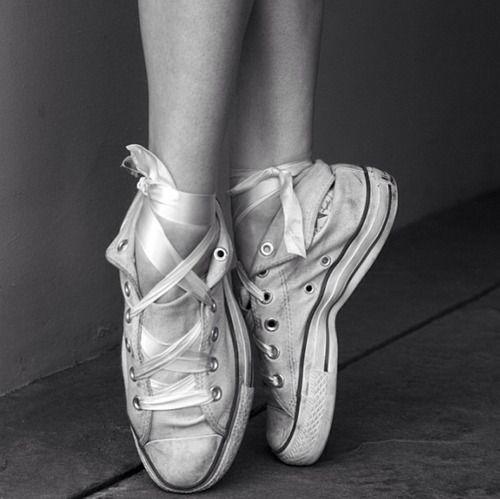 Converse all star ☆ ...  pointe  ballet  ballerina  dance  movement  art   photo  cool  idea  c90f9b6cb8