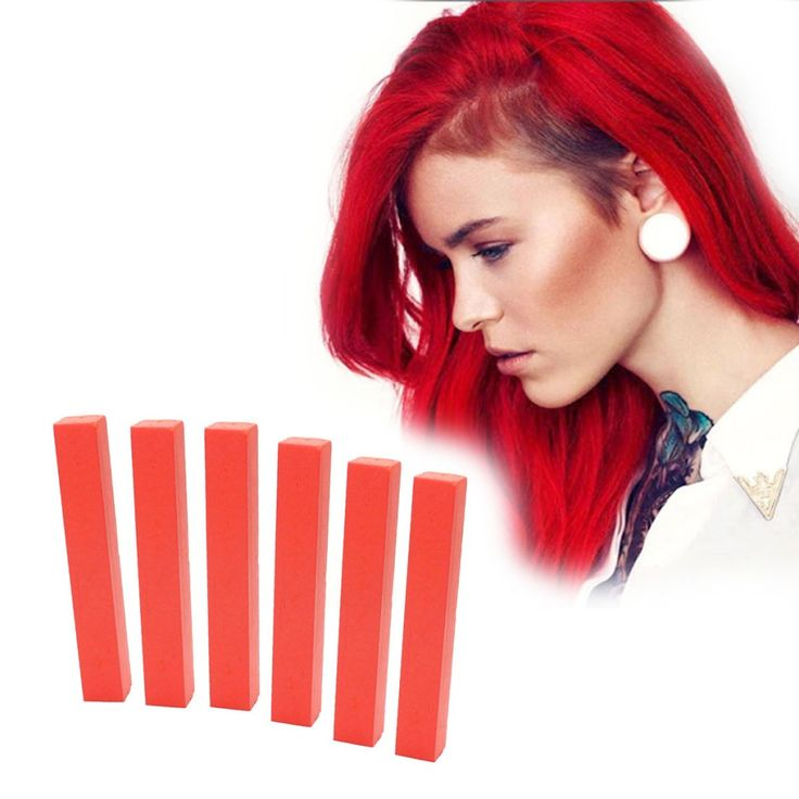 Bright Red Hair Dye | SEXY RED 6 Ruby Red Hair Chalks | HairChalk  Imperial Red Hair Color for your temporary hair dying fun! A complete 6 Hair Chalk Cherry Red hair kit