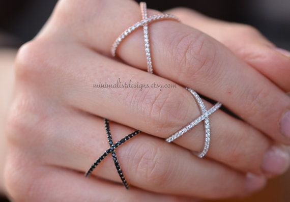 Sterling SilverCriss Cross RingX ringX Cross by MinimalistDesigns