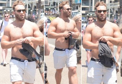 Jai Courtney shirtless