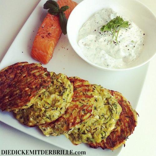 Zucchini-Feta-Puffer