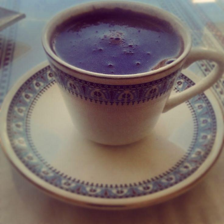 coffee in vintage cup #mornings