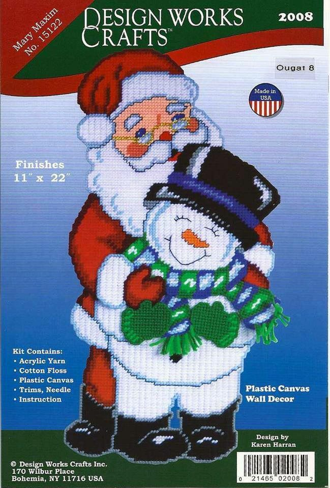 Santa snowman plastic canvas christmas pinterest for Plastic snowman