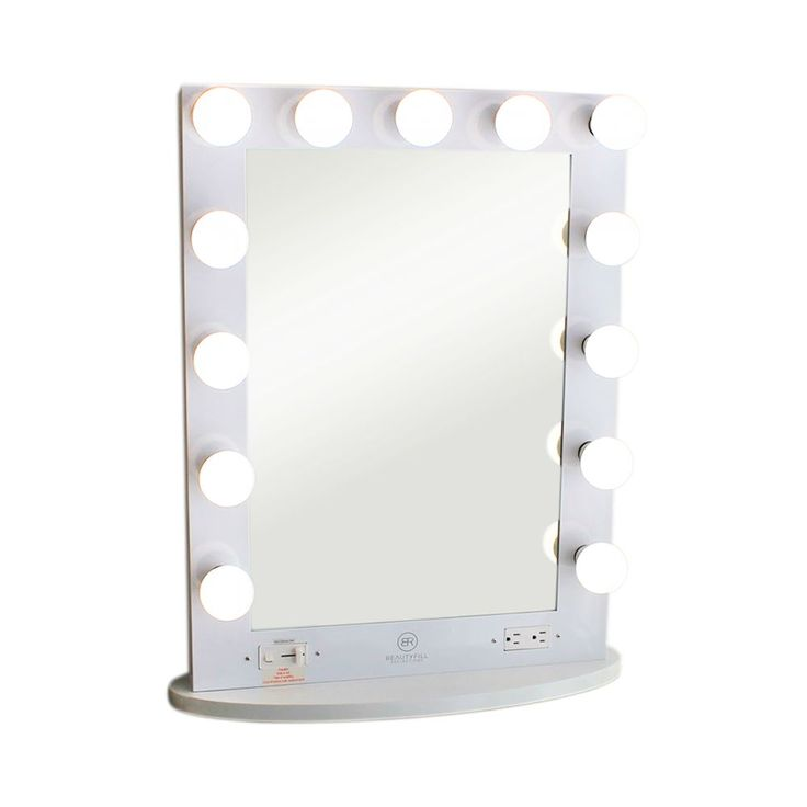 Spend a lot of time doing your makeup? This Hollywood Vanity Mirror is a dream come true for your Makeup Vanity! The LED lights with dimmer switch will allow you to bring you makeup game to a whole ne