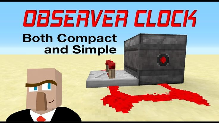 BUILD THIS MINECRAFT OBSERVER CLOCK - It's Compact, Silent and Simple