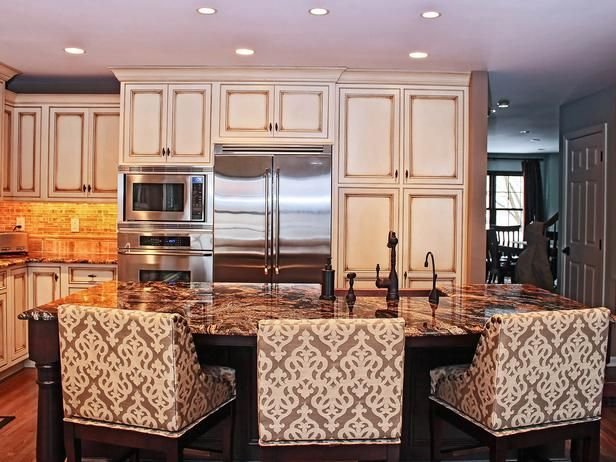 Transitional Kitchen Island Seating  - 99 Beautiful Kitchen Island Design Ideas on HGTV
