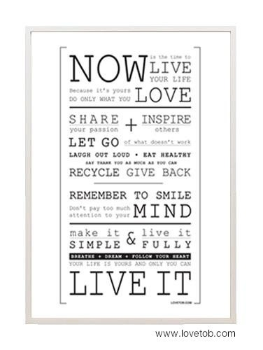 Poster Now is the time / Manifesto Love to Be by LOVETOB on Etsy, $49.00