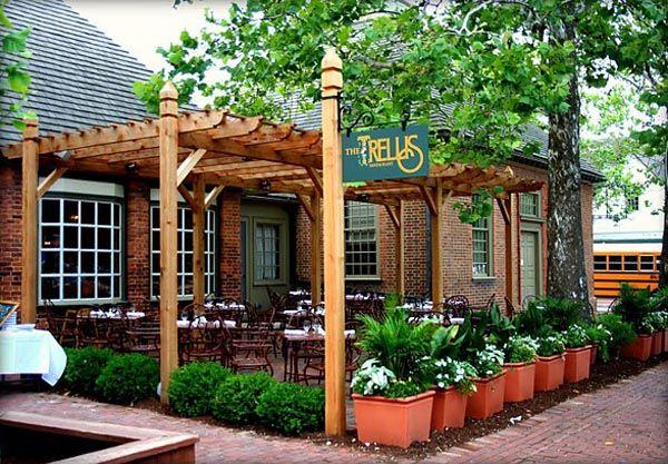 trellis designs | The Trellis Restaurant Outdoor Patio area design in in Colonial ...