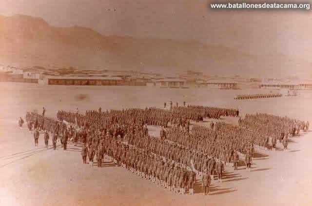 Fotografías Históricas de La Guerra del Pacifico 1879 _ 1884 EL 2º DE LINEA EN ANTOFAGASTA.