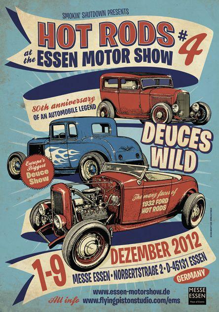 Hot Rods at Essen Motorshow 2012 , 1. -9. Dez. 2012  Layout by Mighty Sam