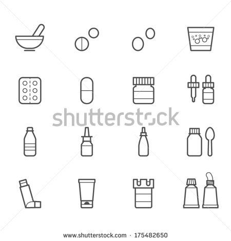 Pharmacy and Medical Icons by pking4th, via Shutterstock