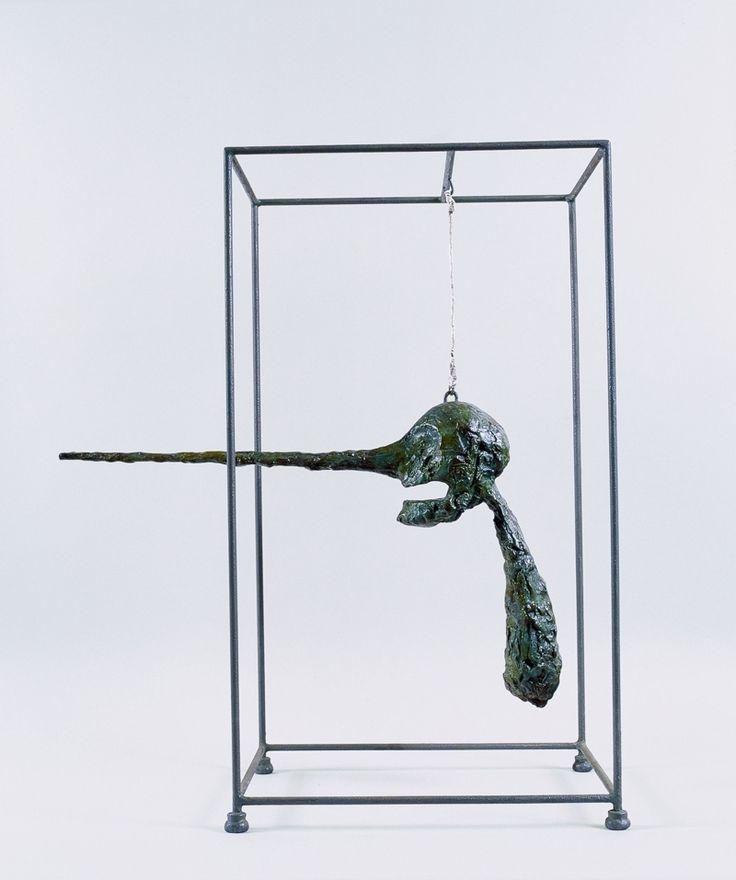 """""""Человеческая голова на пьедестале"""" (1949-1951) В 1921 году, во время путешествия по Тиролю, Джакометти стал свидетелем внезапной смерти своего случайного спутника. """"Человеческая голова на пьедестале (или на стержне)"""" - запрокинутая, посылающая немой крик в пустоту, стала воплощением мучительного воспоминания скульптора об этом эпизоде. Подробнее: http://vm.ru/news/2014/01/10/chelovek-shagayushchij-7-shedevrov-alberto-dzhakometti-230415.html"""