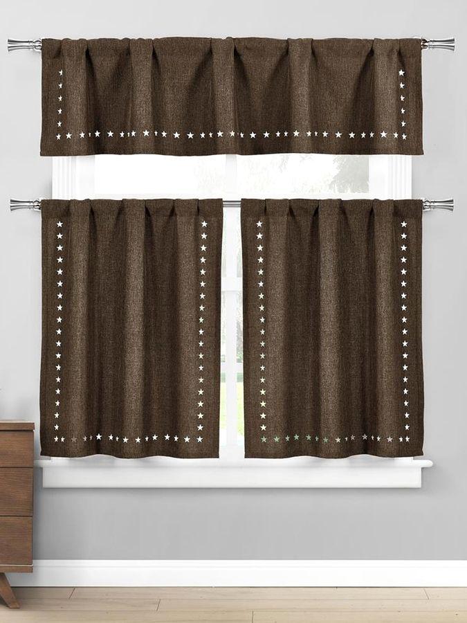 Home Maison Conor Stars Tiers Kitchen Curtain Set (3 PC)