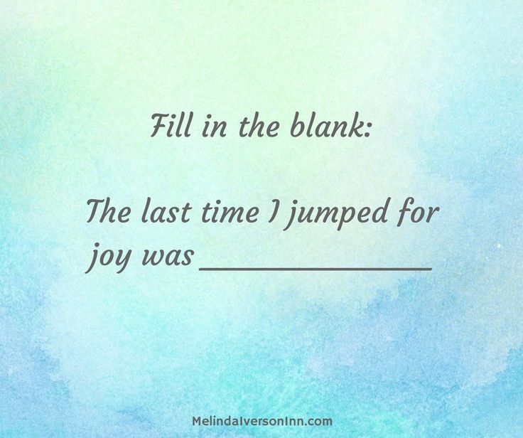 If you have trouble thinking of any recent occasions of joy, maybe it's time to examine your life a bit. Many of us feel joyless under the burden of relationship and financial issues, social and political unrest at home and abroad—it might seem to us that there's not much to cheer about. There's another way to look at these circumstances!