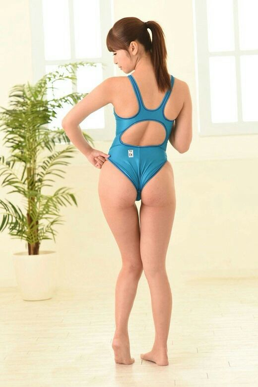 Maybe this nice blue swimsuit is small for her #asiangirl