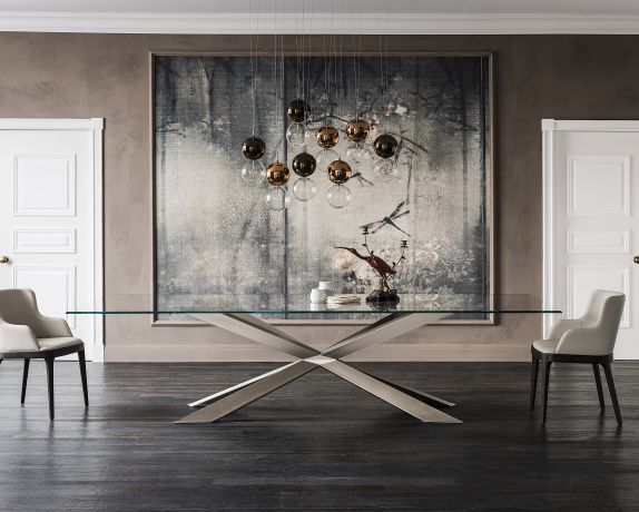 This Magnificent Catellan Italia Spyder Glass Table Is Designed By Philip  Jackson With All The Panache