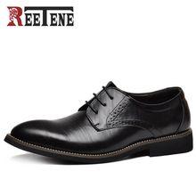 100% Cuero Genuino Para Hombre Zapatos de Vestir, de alta Calidad de Oxford Zapatos Para Hombres Con Cordones de Los Hombres de Negocios, Los Hombres de la marca Zapatos de La Boda