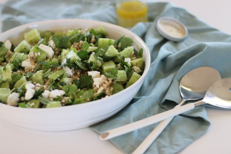 Pearl Barley, Cucumber and Mint salad