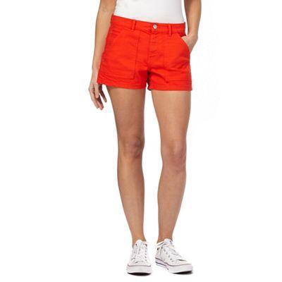 Red Herring Red denim shorts | Debenhams