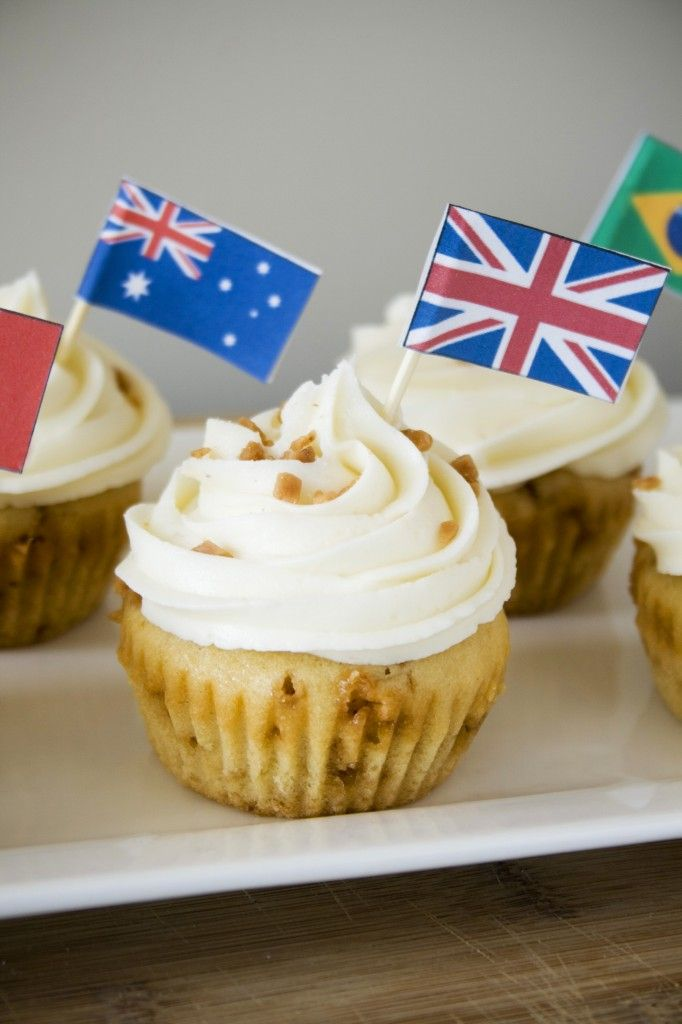 english toffee cupcakes