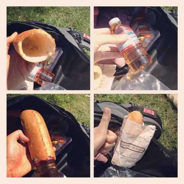 Bread is perfect for concealing liquor. | 32 Alcohol-Related Lifehacks Every Adult Should Know