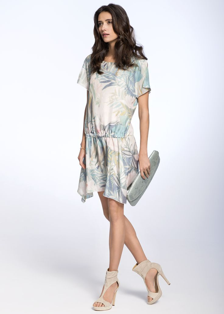 FLORAL SILK DRESS €470.00 Etheric, subtle dress, created from the finest quality of Italian silk, makes the women silhouette look feminine and sensual.