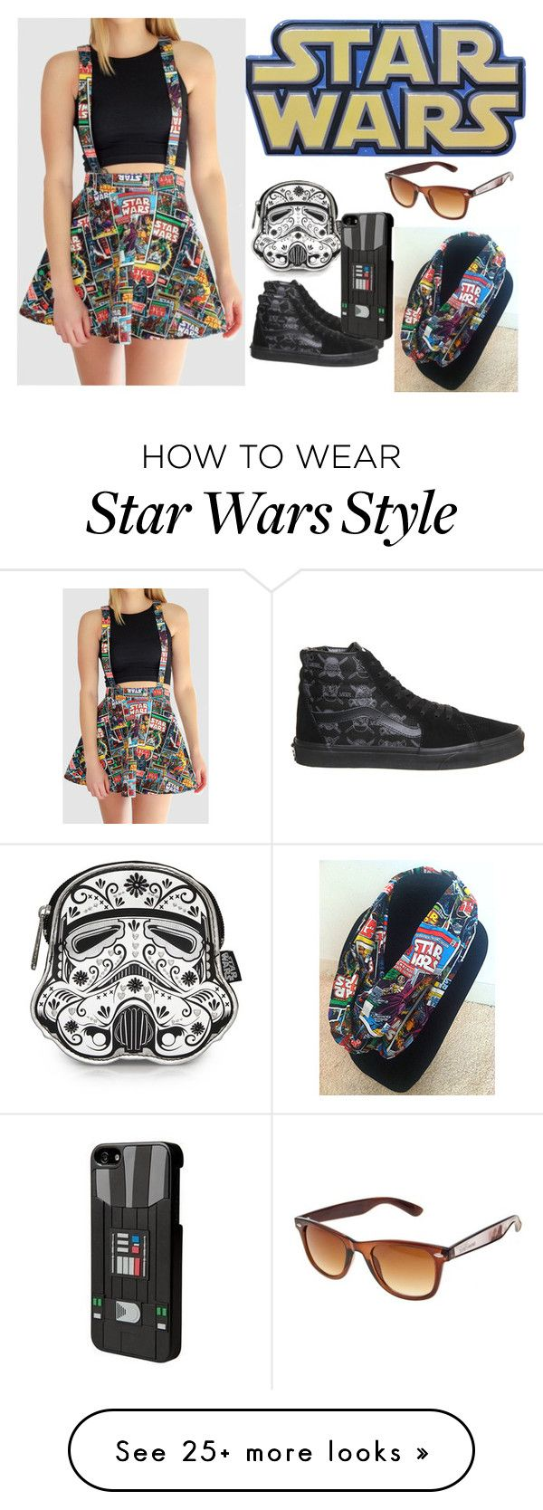"""""""Star Wars"""" by supercatcharlie on Polyvore featuring Disney and Vans"""