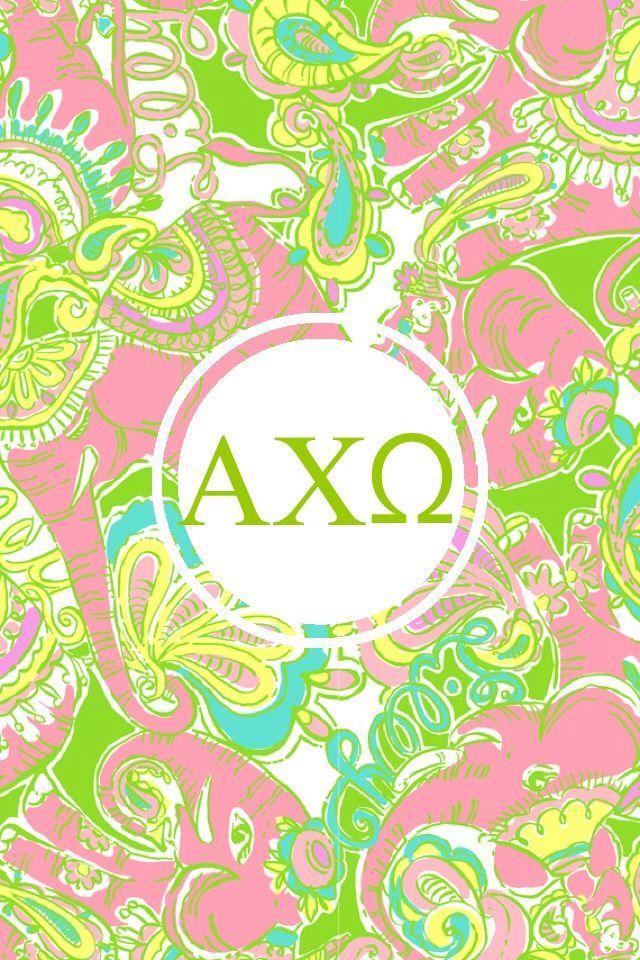 alpha chi omega iphone lilly monogram background