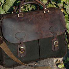 Wax Leather Briefcase für Herren von Barbour