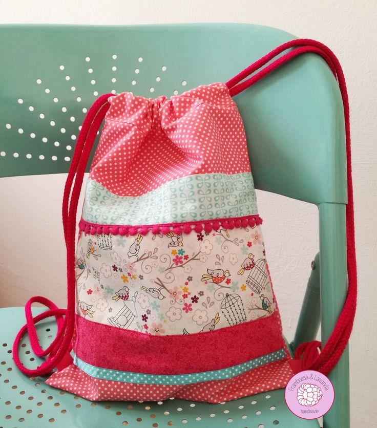 #mochila #talega #infantil #niña #hechoamano #handmade #baby