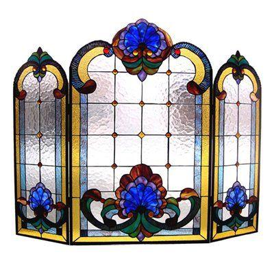 victorian fireplace screens | Chloe Lighting CH40B201FS Victorian Fireplace Screen