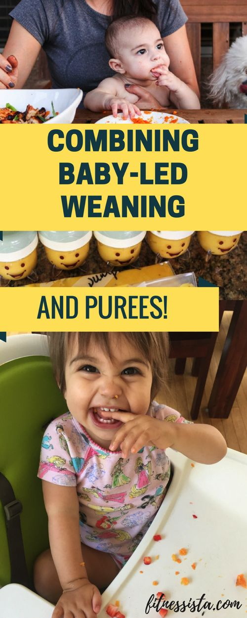 Wondering how to combine baby-led weaning (or BLW) with purees? Here are some of the things that helped us! fitnessista.com