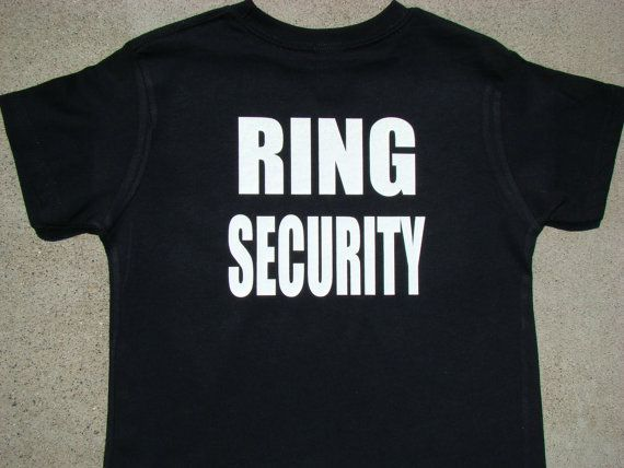Wedding Tuxedo RING SECURITY Tshirt Child by SweetBohemianLife